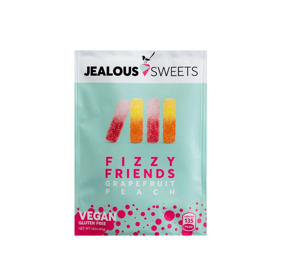 Jealous Sweets - Fizzy Friends Grapefruit & Peach - 40g