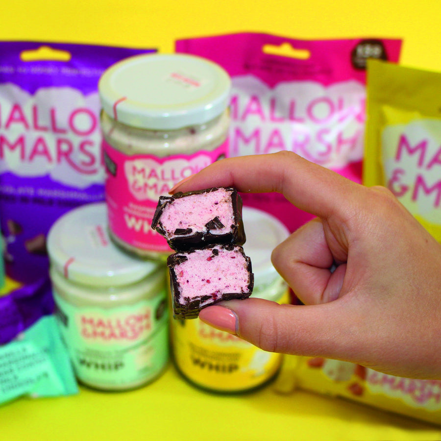 Mallow & Marsh - Raspberry & Dark Chocolate Marshmallow Bar - 35g