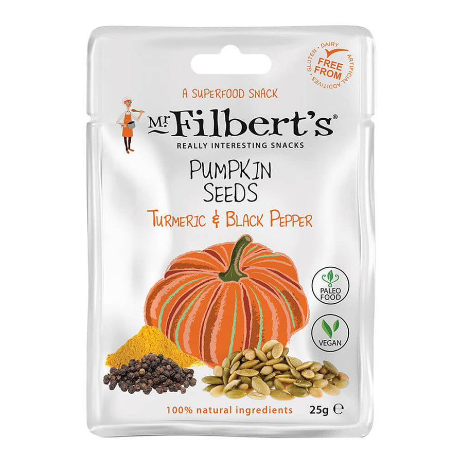 Mr Filberts - Pumpkin Seeds - Tumeric & Black Pepper - 25g
