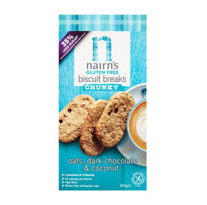 Nairns Biscuit Breaks Chunky Oats, Dark Chocolate & Coconut - 160g