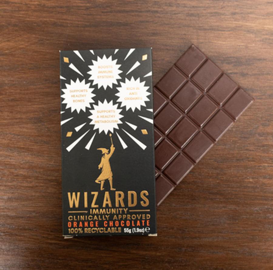 Wizards Immunity Boosting Orange Milk Chocolate Bar - 55g