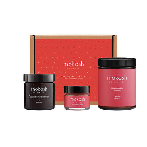 MOKOSH Raspberry Delight Face and Body Set