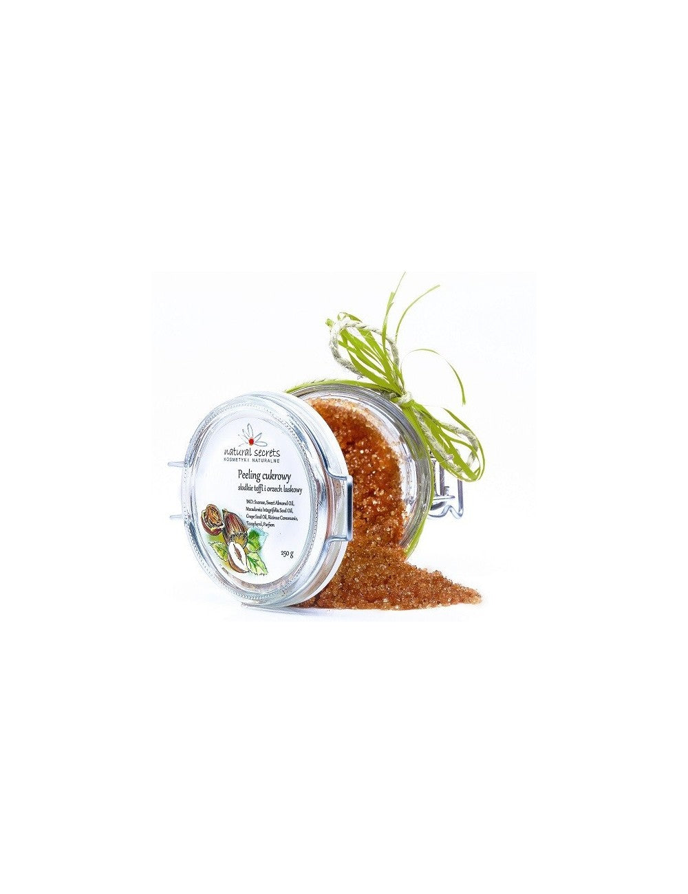 Natural Secrets Cane Sugar Body Scrub - Sweet Toffee & Hazelnut.
