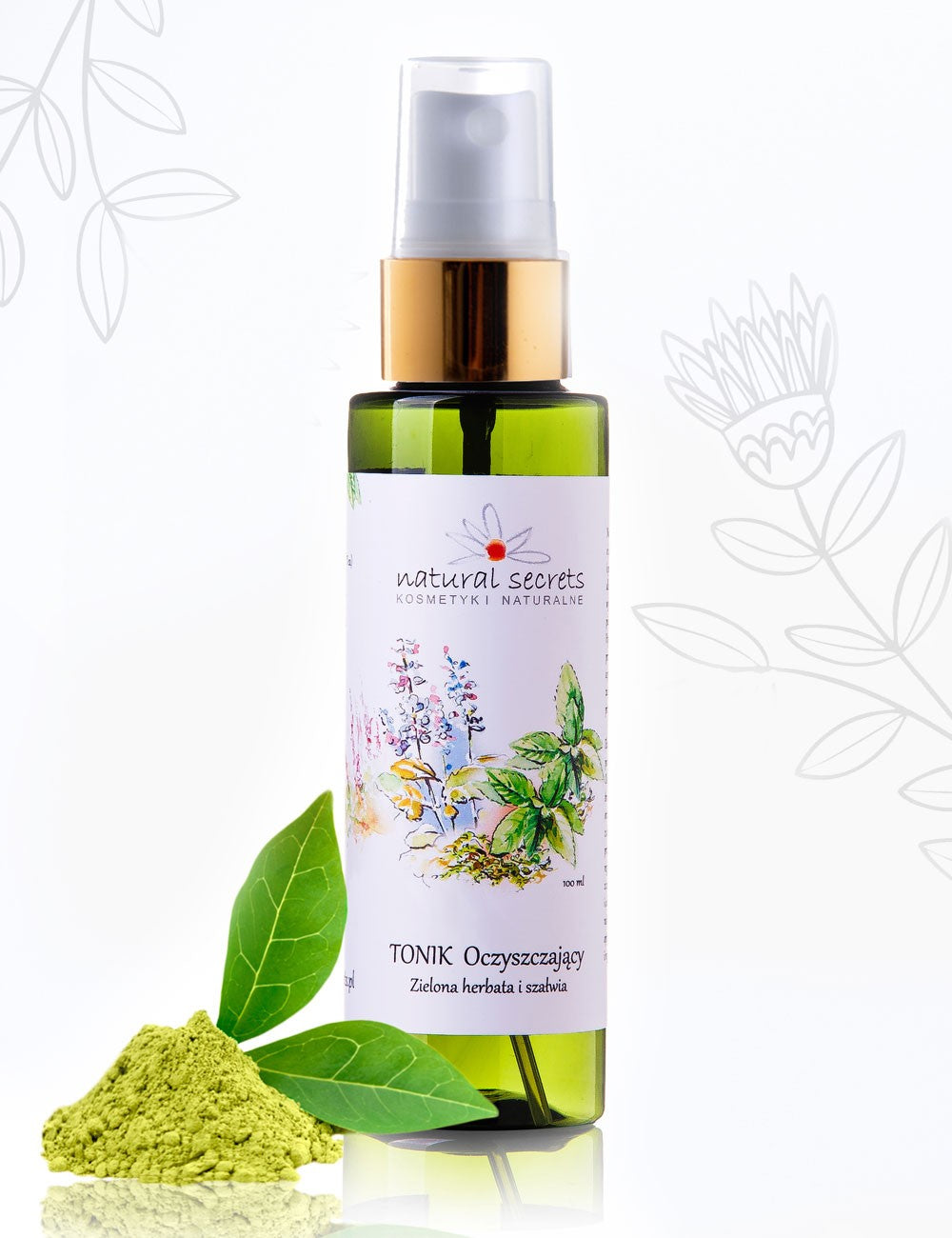 Natural Secrets Cleansing Toner - Green Tea & Sage.