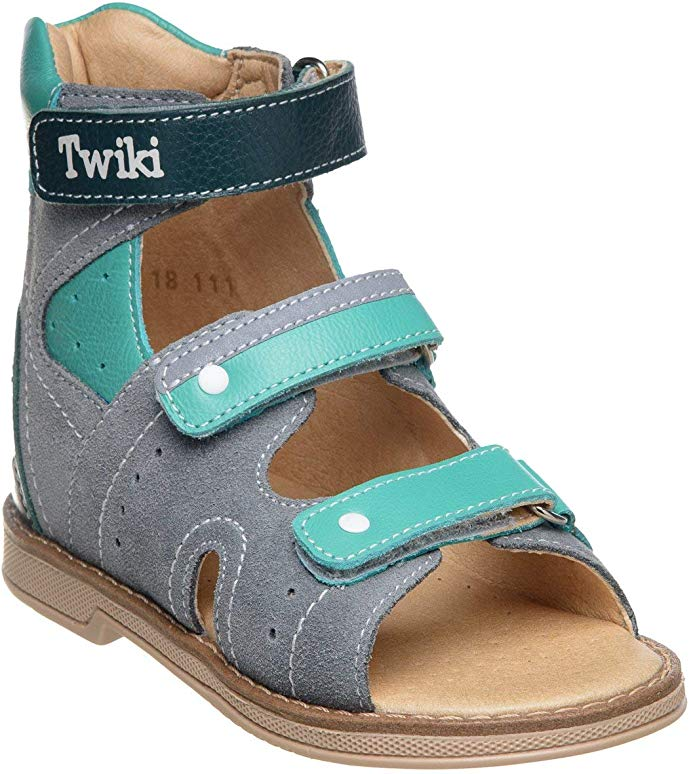 Twiki Orthopedic Kids AFO Shoes for Boys and Girls Genuine Leather High Back Sandals with Arch Support Non-Slip Amortizing Sole and Thomas Heel