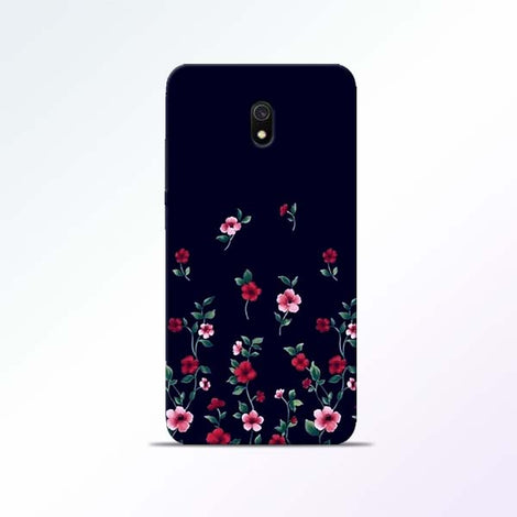 Black Flower Redmi 8A Mobile Cases
