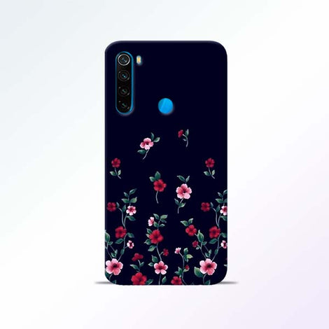 Black Flower Redmi Note 8 Mobile Cases