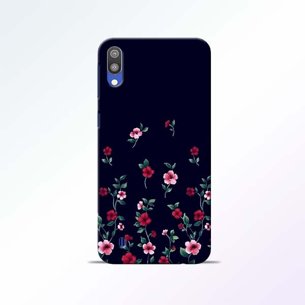 Black Flower Samsung Galaxy M10 Mobile Cases