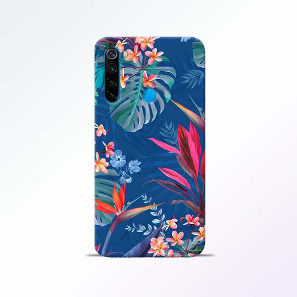 Blue Floral Redmi Note 8 Mobile Cases