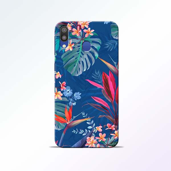 Blue Floral Samsung Galaxy M20 Mobile Cases