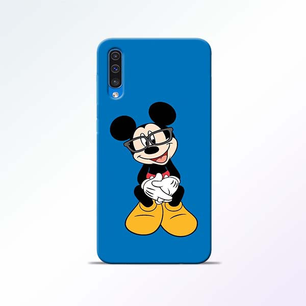 Blue Mickey Samsung Galaxy A50 Mobile Cases