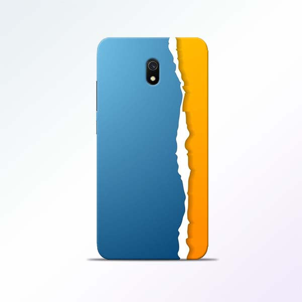 Blue Yellow Redmi 8A Mobile Cases