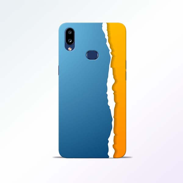 Blue Yellow Samsung Galaxy A10s Mobile Cases