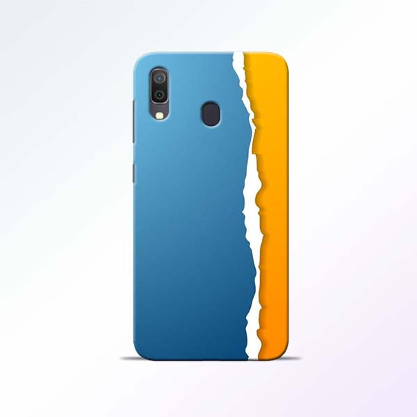 Blue Yellow Samsung Galaxy A30 Mobile Cases