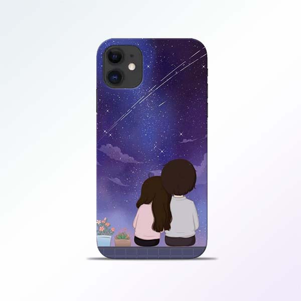 Couple Sit iPhone 11 Mobile Cases