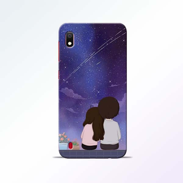 Couple Sit Samsung Galaxy A10 Mobile Cases