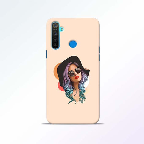 Girl Sketch Realme 5 Mobile Cases