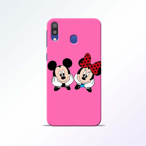Pink Cartoon Samsung Galaxy M20 Mobile Cases