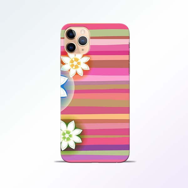 Pink Stripes iPhone 11 Pro Mobile Cases