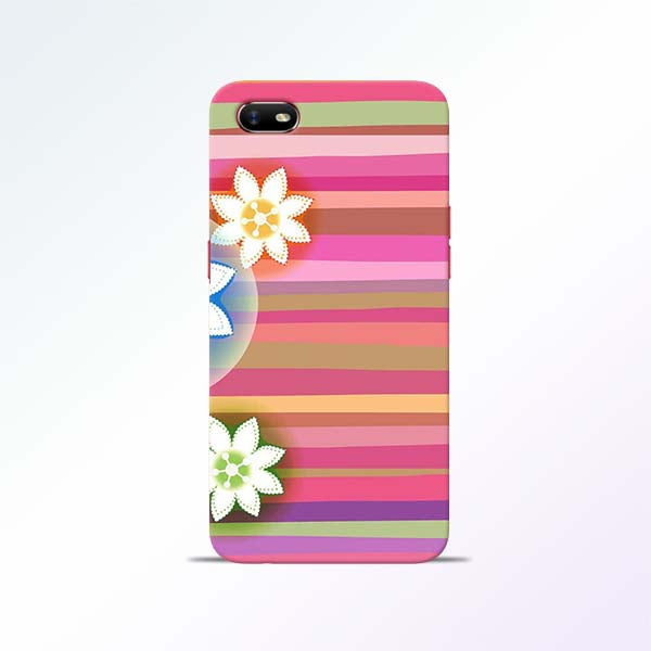 Pink Stripes Oppo A1K Mobile Cases