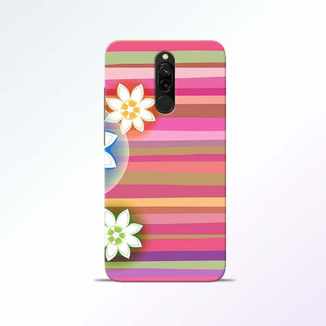 Pink Stripes Redmi 8 Mobile Cases