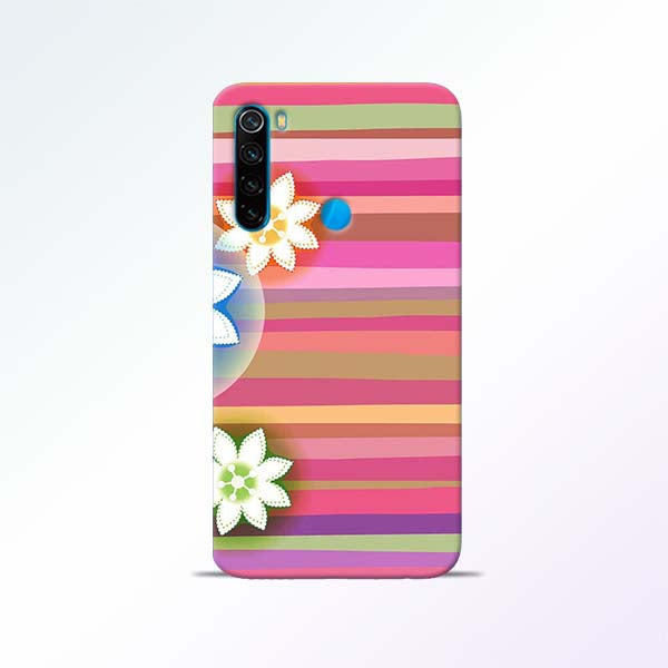 Pink Stripes Redmi Note 8 Mobile Cases