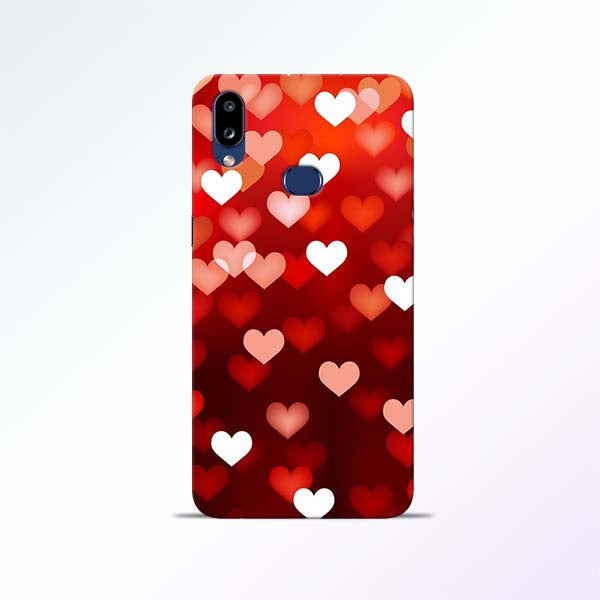 Red Heart Samsung Galaxy A10s Mobile Cases
