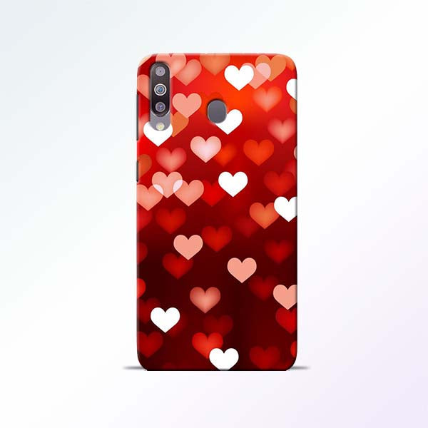 Red Heart Samsung Galaxy M30 Mobile Cases