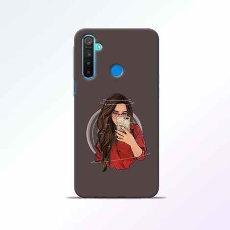 Selfie Girl Realme 5 Mobile Cases