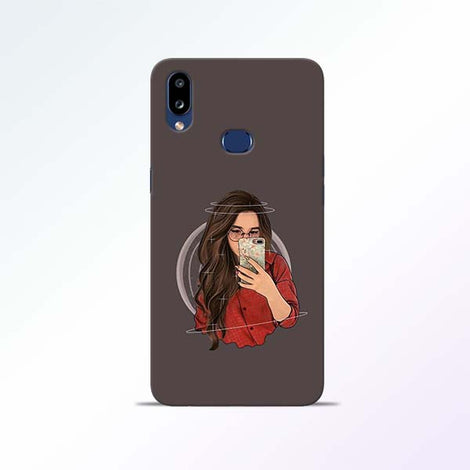 Selfie Girl Samsung Galaxy A10s Mobile Cases