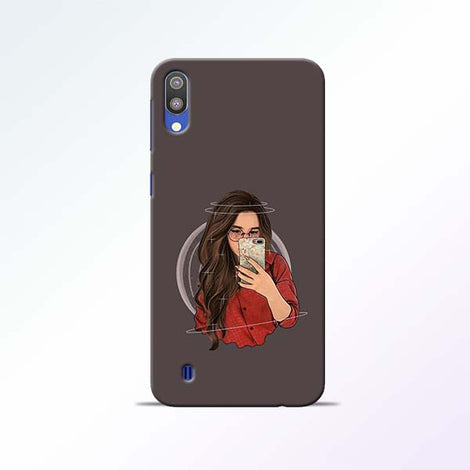 Selfie Girl Samsung Galaxy M10 Mobile Cases