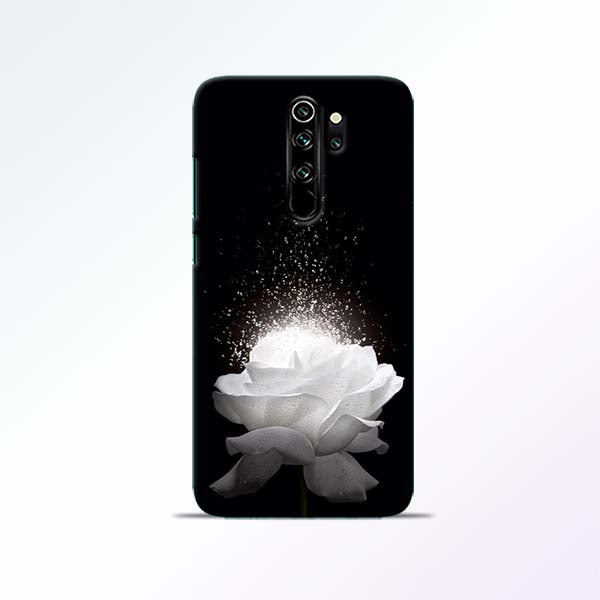 White Rose Redmi Note 8 Pro Mobile Cases