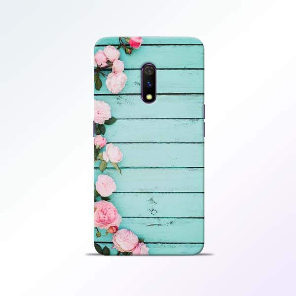 Wood Flower Realme X Mobile Cases