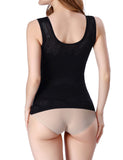 * Sculpting Black U-Shape Support Shaping Tank Top Seamless Plain For Beauty,SHAPE,LES HAUTS,slimdy