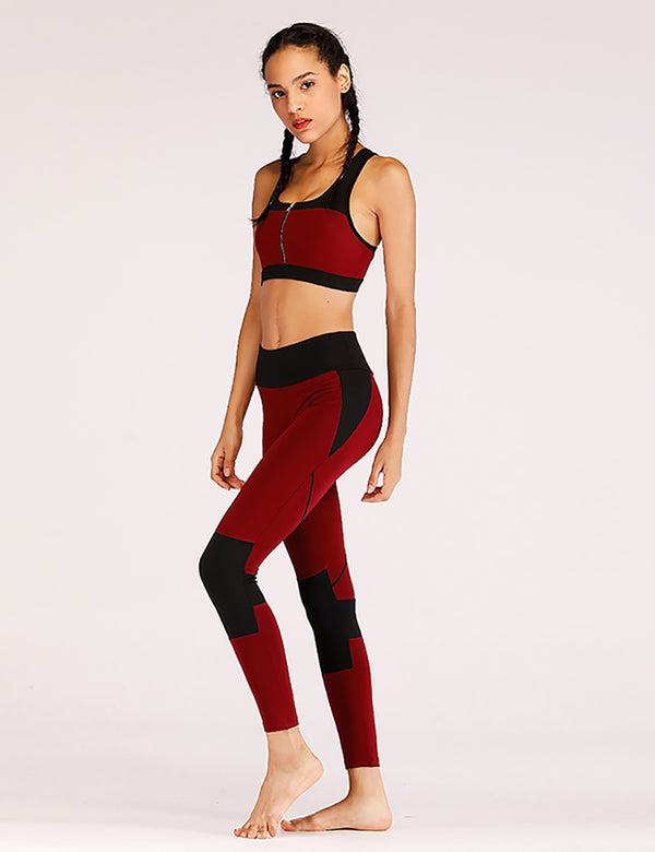 PIA Bordeaux - Ensemble Leggings 2 pièces bordeaux,LEGGINGS,LES ENSEMBLES LEGGINGS,slimdy
