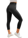 STEFFIE Noir - Legging sans coutures yoga 3/4,LES LEGGINGS, LEGGINGS TAILLE HAUTE,LEGGINGS 3/4,slimdy