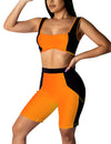 PANDORA Orange - Ensemble leggings 2 pièces Flashy orange,LES LEGGINGS,LES ENSEMBLES LEGGINGS,slimdy