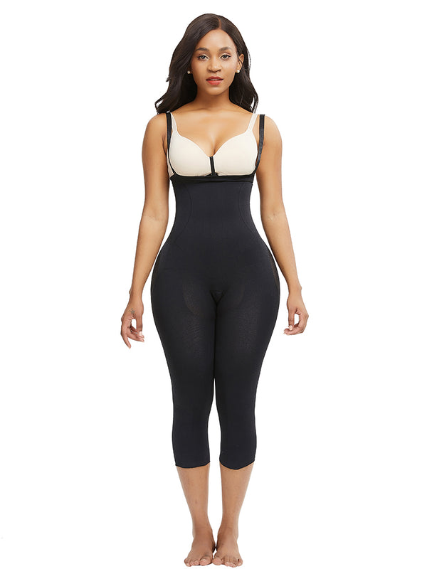 LOUISA Noire - Body Shaper Liftant noir avec remonte fesses,LES BODYS,LES BODYS LONGS,INVISIBLE SKINS COLLECTION,slimdy