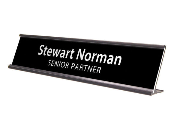 Plastic Desk or Door Nameplate