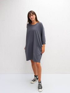 Chalk UK Brody Dress Charcoal