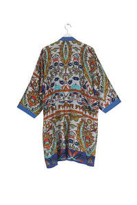 One Hundred Stars Decadent Blue Collar Kimono