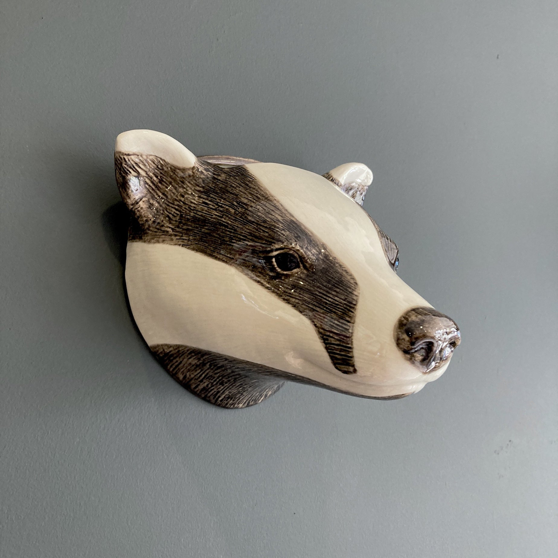 Stoneware Animal Wall Vases
