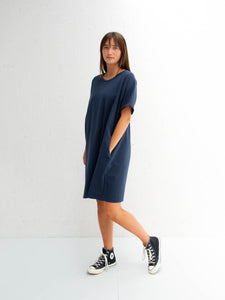 Chalk UK Linda Dress Navy
