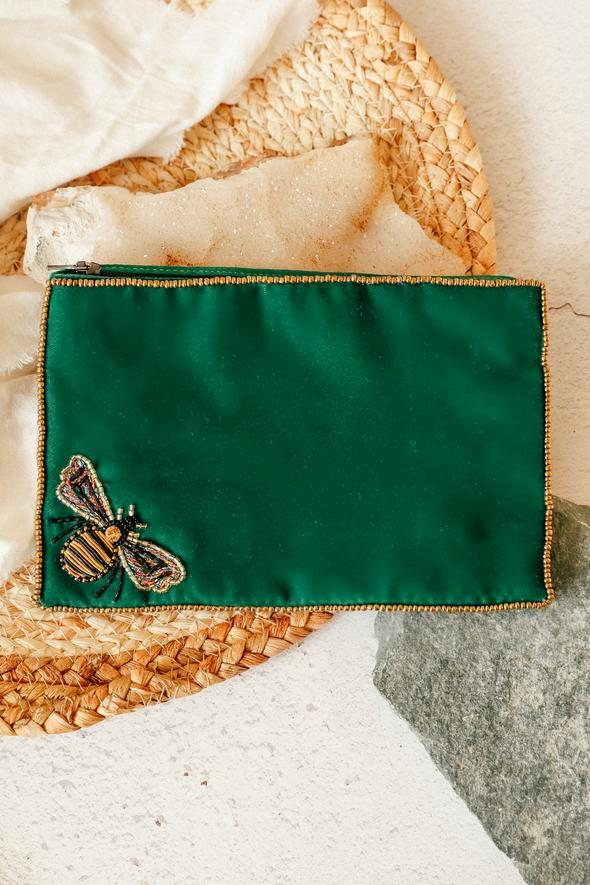 Emerald Bee Purse Large