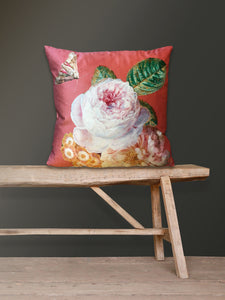 Vanilla Fly Coral Rose Cushion