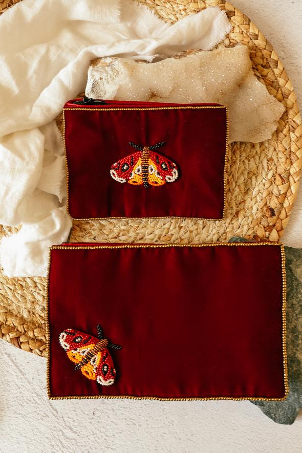 Wine Moth Purse Small