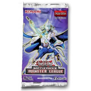 Yu-Gi-Oh Battle Pack 3  : Monster League - 1 Booster Pack - New Booster Packet