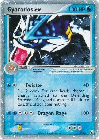 Pokemon EX FireRed & LeafGreen - Gyarados ex - 109/112-011067 - New Holo Rare card