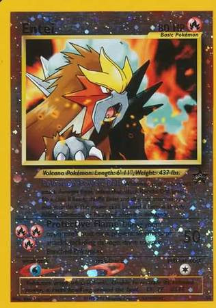 Pokemon - Wizards Black Star Promo cards - Entei (Rev Holo) - 34 - As New Promo card