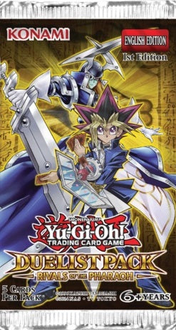 Yu-Gi-Oh Duelist Pack Rivals of the Pharaoh - 1 Booster Packet - New Booster Packet